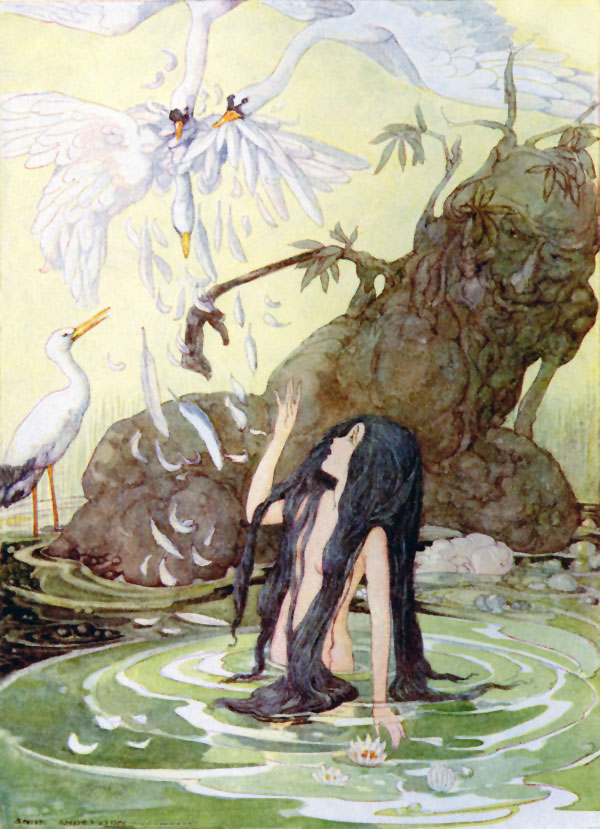 The Marsh King's Daughter, The wicked sisters flew off without her, Anne Anderson