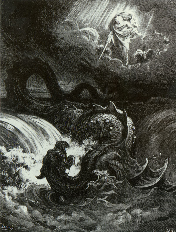 Leviathan.  Gustave Dore art print