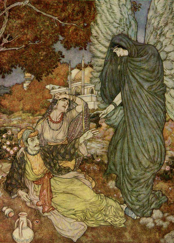 Angel of the Drink of Darkness, Edmund Dulac