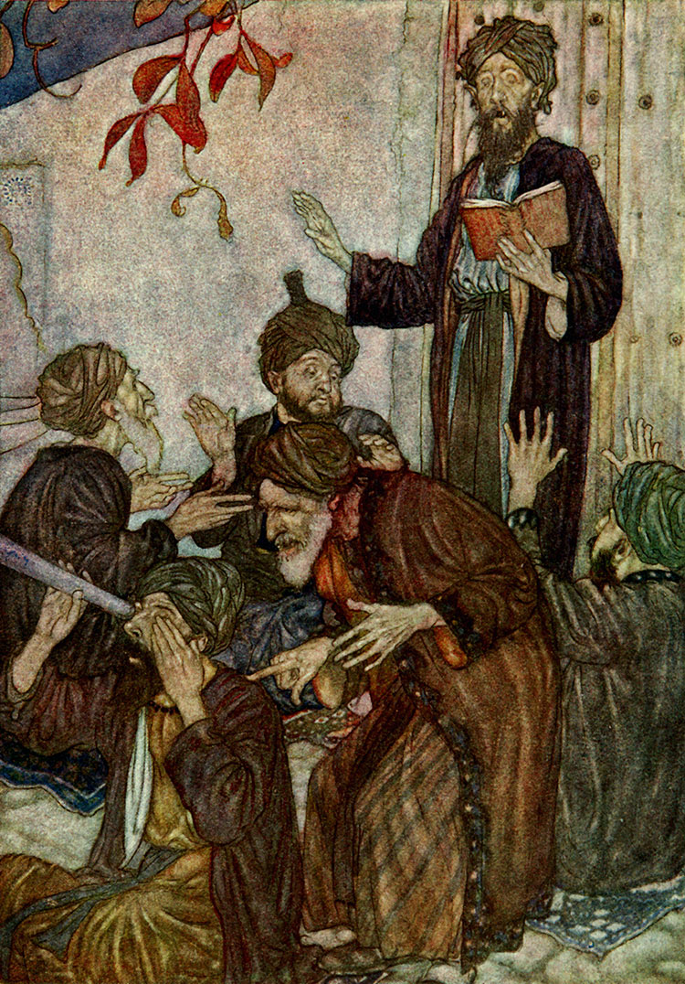 All are but Stories, by Edmund Dulac illustration to The Rubaiyat