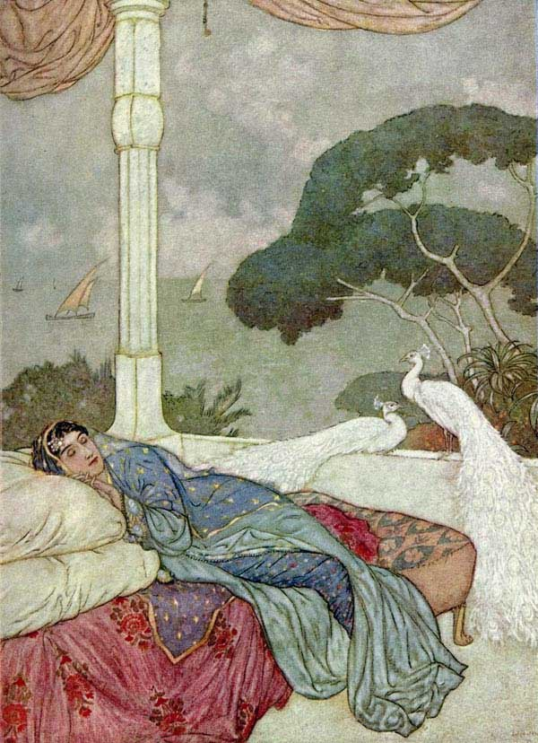 Heaven but the Vision of Fulfilled Desire, by Edmund Dulac, from the illustrations to the Rubaiyat of Omar Khayyam