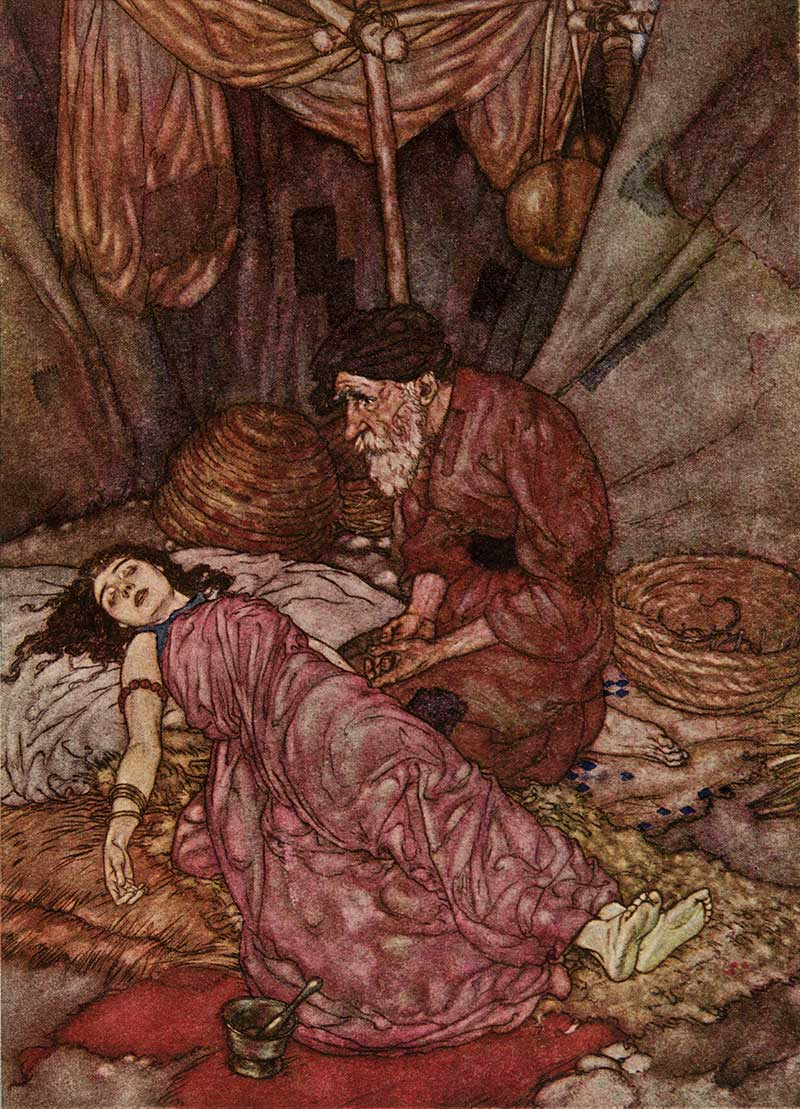 The Face of Wretched Man, Edmund Dulac