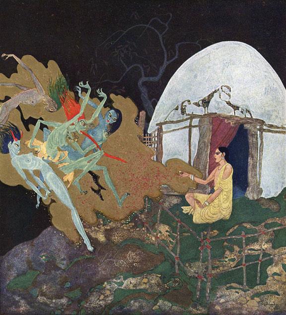 The Talisman Pearl, Edmund Dulac