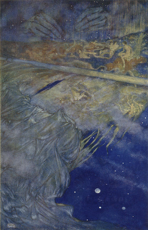 We are such stuff as dreams are made on. Edmund Dulac, The Tempest. The Art of Myth and Fairy Tale
