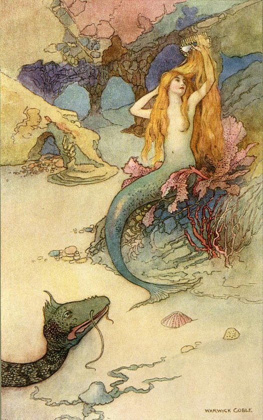 The Mermaid - illustration by Warwick Goble