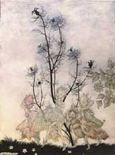 Arthur Rackham fairies from A Midsummer Night's Dream