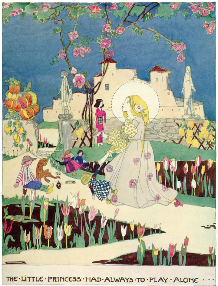 The Little Princess Always Had to Play Alone. The Birthday of the Infanta by Oscar Wilde, illustration by Jessie Marion King