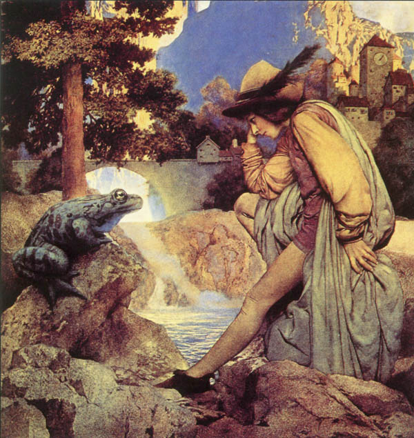 The The Frog Prince, by Maxfield Parrish