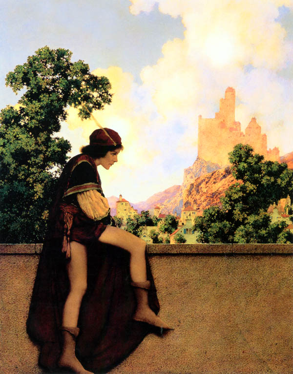 The kave of hears watching Lady Violetta Depart, Maxfield Parrish