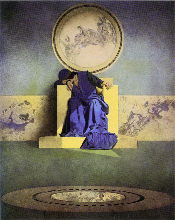 King of the Black Isles, by Maxfield Parrish, illustration to Arabian Nights