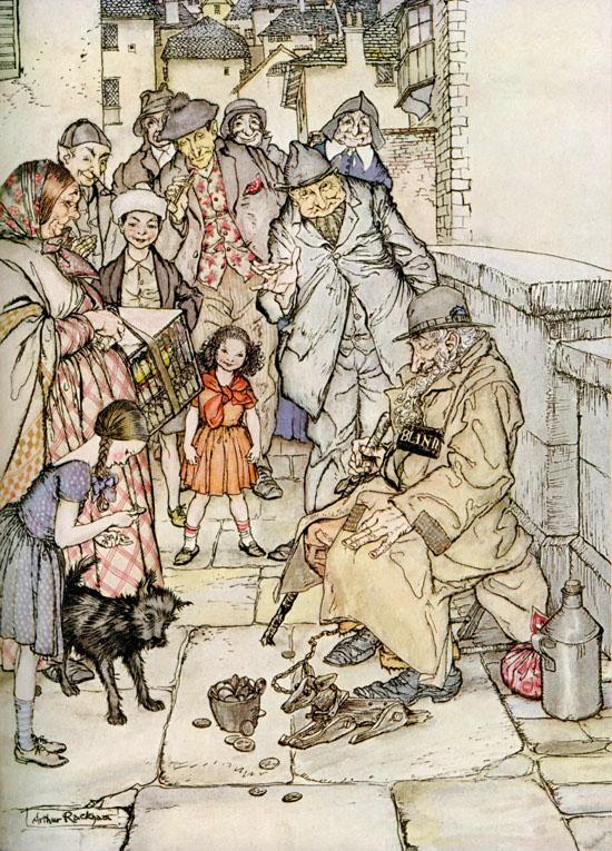 Cecco, the Wooden Dog, Arthur Rackham, Poor Cecco